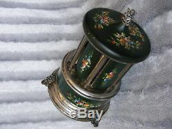 Vintage Decorative REUGE Music Musical Box Carousel Cigarette Lipstick Holder