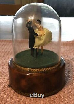 Vintage Dr Zhivago Reuge Dancing Love Couple Ballerina Music Box