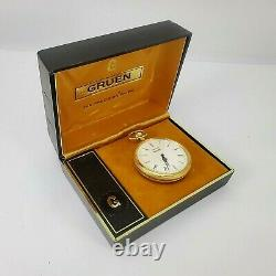 Vintage GRUEN Pocket Watch REUGE Music Box Mechanism Original Package Notre Dame