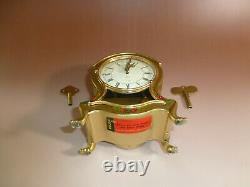 Vintage German Mechanical Music Clock With Reuge Music Box 2 Songs, Song Hourly