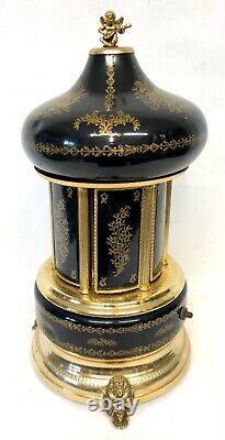 Vintage Italian REUGE Musical Box Cigar Cigarette Lipstick Holder SWISS MOVEMENT