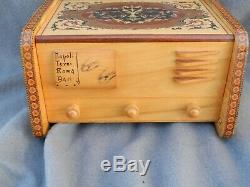 Vintage Italian Reuge Ballerina Music Box Jewelry Box Till End Of Time
