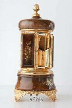 Vintage Lipstick / Cigarette Carousel Holder Reuge Music Box Made in Italy