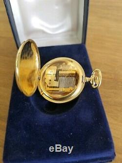 Vintage Miniature Reuge Music Box, Musical Pocket Watch