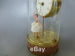 Vintage Musical Ballerina Automaton Alarm Clock Reuge Music Box (See The Video)
