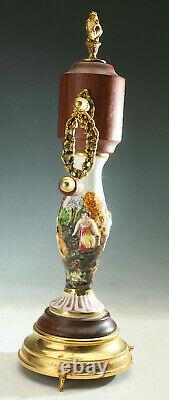 Vintage Pepper MILL Italy Reuge Music Box Capodimonte Pepper Grinder Dr. Zhivago