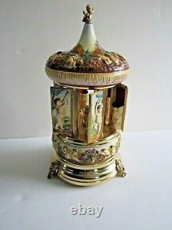 Vintage Porcelain Capodimonte Perfume Dispenser-reuge Swiss Musical Movement