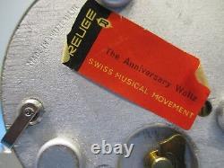 Vintage RARE Working Reuge Anniversary Waltz Music Box Made in Switzerland VS5