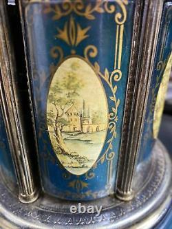 Vintage REUGE Carousel Lipstick Cigarette Holder Music Box The Blue Danube