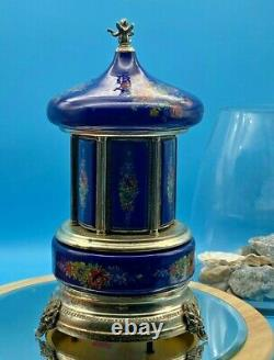 Vintage REUGE Carousel Music Box. Cigarette Holder. Doctor Zhivago Theme