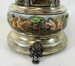 Vintage REUGE Laras Theme Love Story Carousel Porcelain Lipstick Music Box WORKS