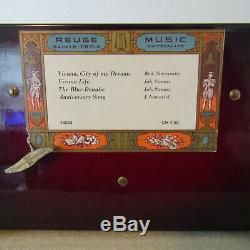 Vintage REUGE MUSIC BOX Chest with Paintings Decoupage 4 PIECES CH 4/50 # 45033