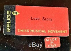 Vintage REUGE Porcelain Carousel Cherub Cigarette Music Box