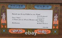 Vintage REUGE Saint-Croix Switzerland CH 4/50 Note Movement & 4 Songs Music Box