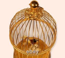 Vintage REUGE Singing Bird Cage Automaton Music Box (Video Inc.)