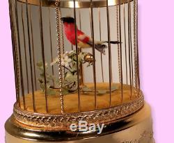 Vintage REUGE Singing Bird Cage Music Box (Video Inc.)