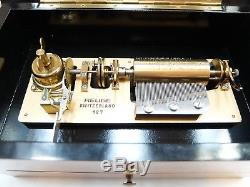 Vintage Reuge 10 Song Extended Play Interchangeable Cylinder Music Box (video)