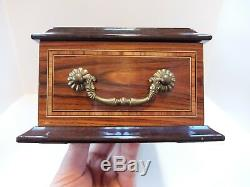 Vintage Reuge 10 Song Interchangeable Cylinder Music Box (video)