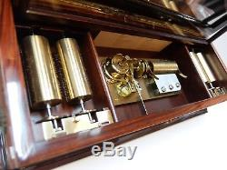 Vintage Reuge 10 Song Interchangeable Cylinder Music Box (watch Video)