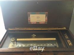 Vintage Reuge 3 Classical Tune 144 Note Sublime Harmony Music Box