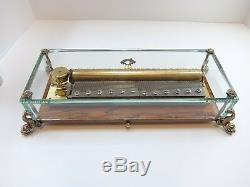 Vintage Reuge 3 Song 144 Note Crystal Clear Dauphine Sublime Music Box (video)