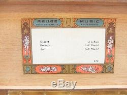 Vintage Reuge 3 Song 72 Note Bach & Handel Music Box (watch Video)