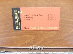 Vintage Reuge 3 Song 72 Note Beethoven Music Box (video)