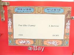 Vintage Reuge 3 Song 72 Note Crystal Clear Dauphine Music Box (video)