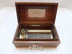 Vintage Reuge 3 Song 72 Note Music Box Piano Concerto Rachmaninov (watch Video)