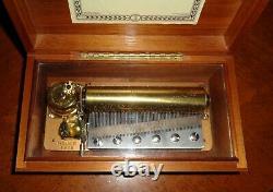 Vintage Reuge 72/3 Music Box Early SN 6919 Sonata #3 Mozart PRISTINE FINISH