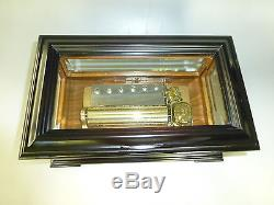 Vintage Reuge 72 Music Box, Crystal Clear Glass Fully Serviced (watch Video)