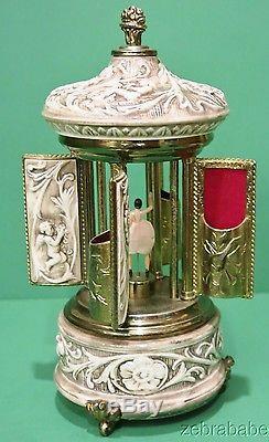 Vintage Reuge Ballerina Capodimonte Music Box Cigarette Holder Lara's Theme