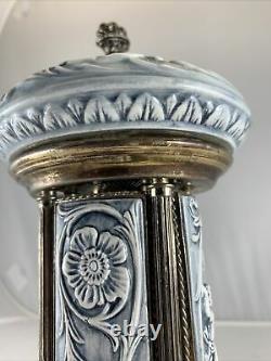 Vintage Reuge Capodimonte Porcelain Carousel Music Cigar Cigarette Dispenser Box