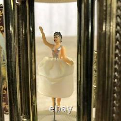Vintage Reuge Carousel Music Box, Cigarette/Lipstick Holder ballerina Painted