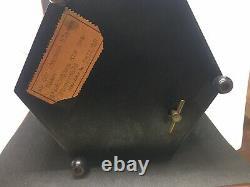 Vintage Reuge Carousel Music Box Cigarette and Lipstick Holder