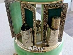 Vintage Reuge Carousel Music Box ITALY Lipstick, Perfume, Cigarette Holders
