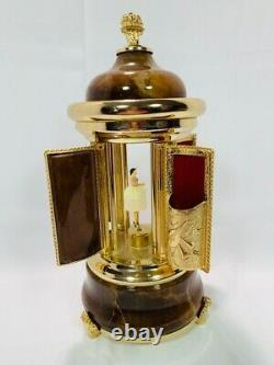 Vintage Reuge Carousel Music Box Lipstick, Plays Edelweiss, made in Italy