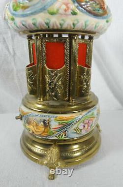 Vintage Reuge Cherubs Carousel Music Box Lipstick/cigarette Holder Love Story
