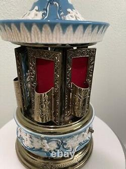 Vintage Reuge Cigarette lipstick Carousel Music Box Swiss Movement