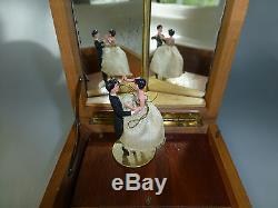 Vintage Reuge Couple Dancing Ballerina Music Jewelry Box (watch Video)
