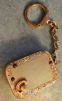 Vintage Reuge Croix Music key chain Sounds And Looks Great. Swiss Made
