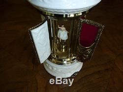 Vintage Reuge Dancing Ballerina Carousel Music Box Lipstick & Cigarette Holder