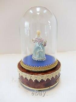 Vintage Reuge Dancing Ballerina Danseur Automaton Music Box (watch Video)