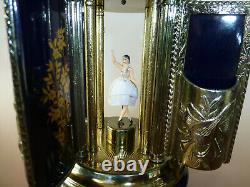 Vintage Reuge Dancing Ballerina Music Box Carousel Cigarette Lipstick Holder