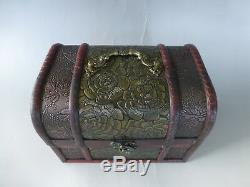 Vintage Reuge Dancing Ballerina Music Box Jewelry & Item Case (watch Video)