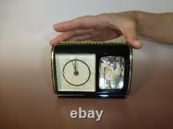 Vintage Reuge Dancing Ballerina Music Box Mechanical Alarm Clock (Watch Video)