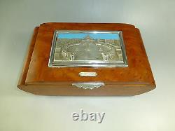 Vintage Reuge Dancing Ballerina Music Jewelry Box Restored (watch The Video)