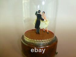 Vintage Reuge Dancing Love Couple Ballerina Music Box Automaton Watch The Video