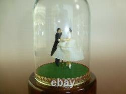 Vintage Reuge Dancing Wedding Couple Ballerina Music Box Automaton (see Video)