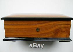 Vintage Reuge Debussy Clair de Lune Wood Music Box CH 3/72 Working NEAR MINT